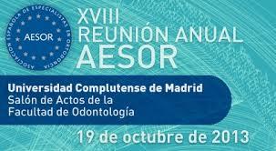 El Dr. Aragón en la reunión anual de los Especialistas en Ortodoncia de España.